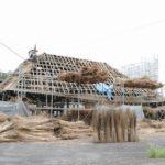 日本の茅葺き屋根